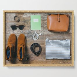 Get ready for the trip. Woman edition Serving Tray
