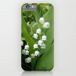 Pure White Lily of the Valley Flower Macro Photograph iPhone Case