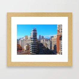 La Gran Via Framed Art Print