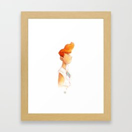 New York Girl Framed Art Print