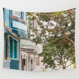 Climbing Hills in San Francisco Wall Tapestry
