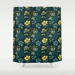 Flowers and embroidery frames Shower Curtain