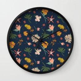 Summertime Navy Wall Clock