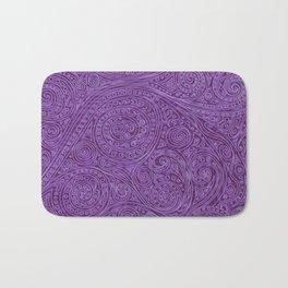 Lavender Spiral Pattern Bath Mat