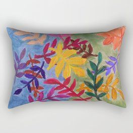 Surreal Leaves Rectangular Pillow