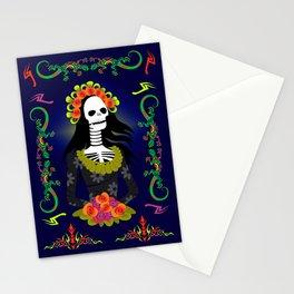 Novia De Los Muertos Stationery Cards