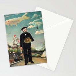 """Henri Rousseau """"Self Portrait from L'ile Saint Louis"""", 1890 Stationery Cards"""