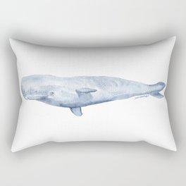 Sperm Whale Watercolor Rectangular Pillow