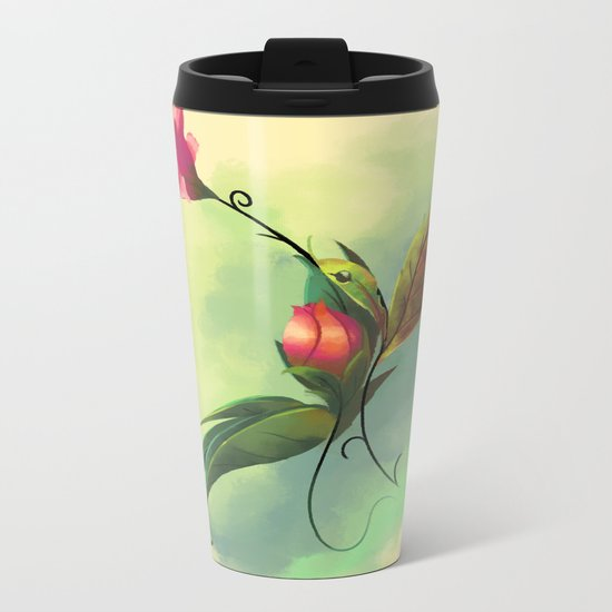 Essence of Nature - Humming Blossom Metal Travel Mug