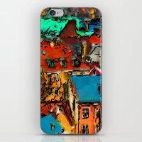 copenhagen iPhone & iPod Skins featuring Copenhagen Rooftops by E.M. Shafer
