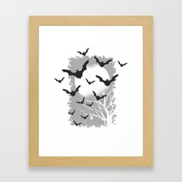 Halloween bats Framed Art Print
