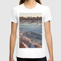 cracked T-shirts featuring Cracked ice. by Mikhail Zhirnov