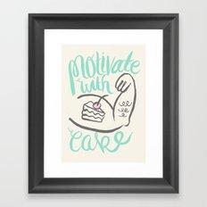 Motivate with Cake Framed Art Print