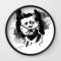 jfk Wall Clocks featuring John F. Kennedy JFK by viva la revolucion