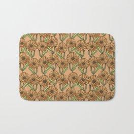 Pattern with flowers of calendula Bath Mat