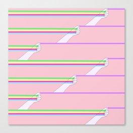 Feminist power pattern Canvas Print