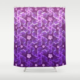 flowing florals Shower Curtain