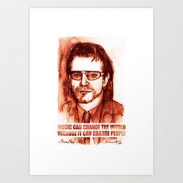 Art Portrait & Quote: Bono Vox Art Print