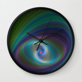 Elliptical Eye Wall Clock