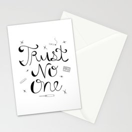 Trust No One Stationery Cards