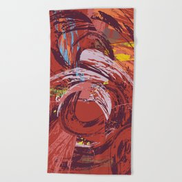 Red Bang Beach Towel