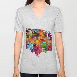 USA Map Unisex V-Neck