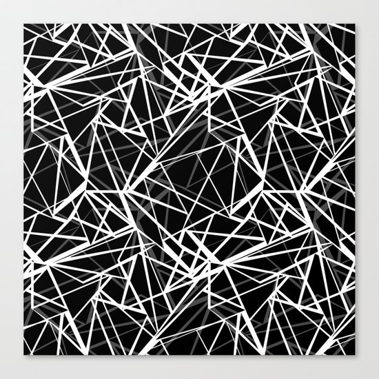 Black and white abstract geometric pattern . 8 Canvas Print