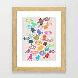 Birdsong_Gosh Quotes by Garima & Rachel Framed Art Print