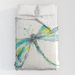 Watercolor Dragonfly Comforters
