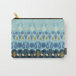 lotus block blue Carry-All Pouch