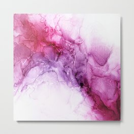 beautiful abstract art with fluid liquid paint Metal Print