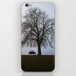 That night we sat together under a tree iPhone Skin