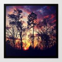 tye dye Canvas Prints featuring Tye-Dye-Sky by Chriss Chapman