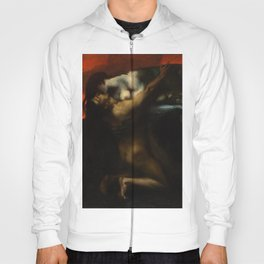The Kiss, Lovers Amid Red romantic portrait painting by Franz von Stuck Hoody