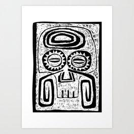Tiki Skull Art Print