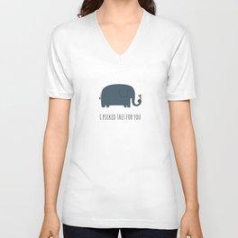 Cute Elephant Unisex V-Neck