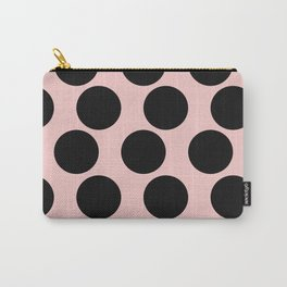 Millennial Pink Brown Dots Carry-All Pouch