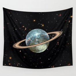 Saturn Disco II Wall Tapestry