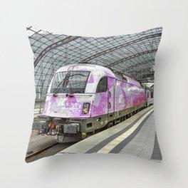 Berlin Electric Pink Throw Pillow