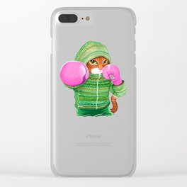BOXING CAT 4 Clear iPhone Case
