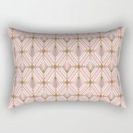 Jaime's Blush and Gold Diamonds Rectangular Pillow