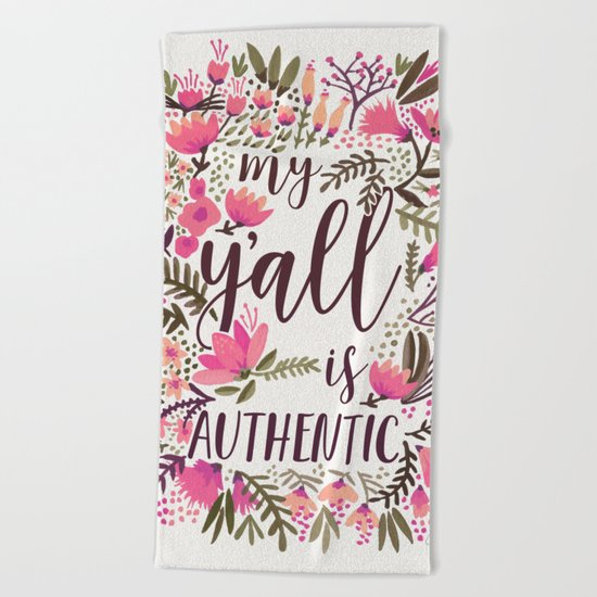 My Y'all is Authentic – Vintage Palette Beach Towel