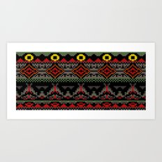 Fairisle of Morder Art Print