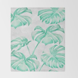 city leaf Throw Blanket