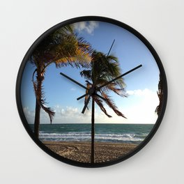 Palms Ft Lauderdale Beach Wall Clock