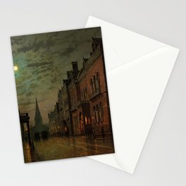 Park Row, Leeds, England by John Atkinson Grimshaw Stationery Cards