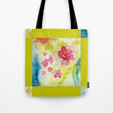 Watercolor Quilt Tote Bag