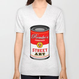 Campbells soup tribute Unisex V-Neck