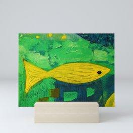 Yellow fish Mini Art Print