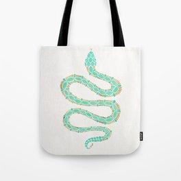 Mint & Gold Serpent Tote Bag